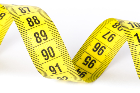 Measuring tape of the tailor for you design Stockfoto