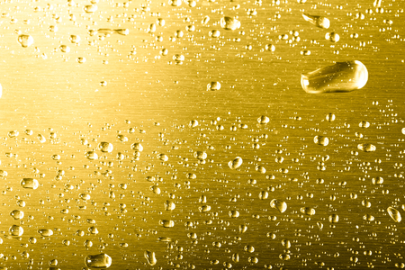 Drops of water on a color