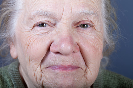 Portrait of elderly woman. Closeup view. Imagens