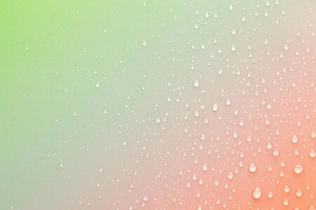 Drops of water on background. Rainbow