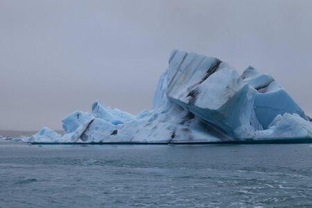 Bizarre ice floes of Iceberg lagoon jokulsarlon on the south of Iceland.