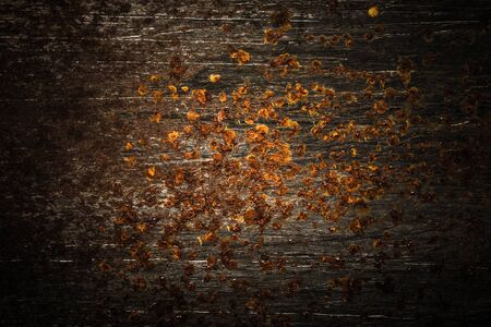 Abstract pattern of rust on old metal textured surface for background. Toned. Stock fotó