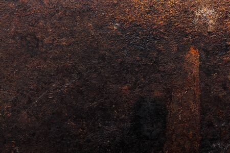 Abstract pattern of rust on old metal textured surface for background. Standard-Bild - 134727201