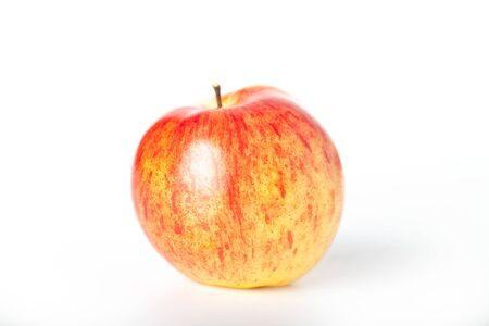 Bright apple on a white background.