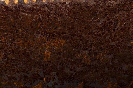 Abstract pattern of rust on old metal textured surface for background. Standard-Bild - 134727617