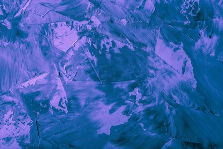 Textured plastered background with a variety of arbitrary stains. Violet. Toned. Stok Fotoğraf