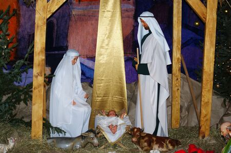 Christmas, Jesus in Bethlehem, birth Archivio Fotografico