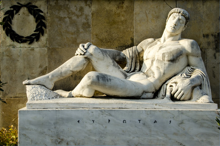 King Eurotas, from the monument of Leonidas,300, Thermopylae.Greece photo