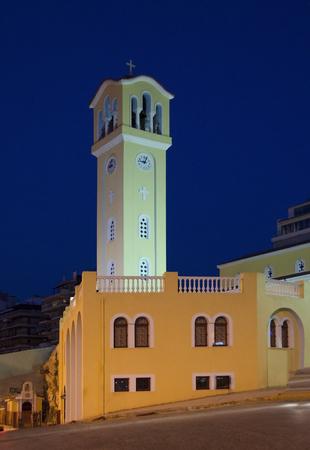 edited photo: Greek Orthodox church in Piraeus,Greece Stock Photo