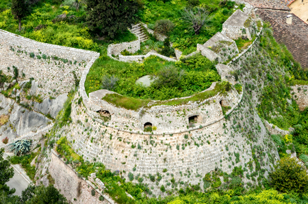 Aerial view,The loopholes of Palamidi Fortress,Nafplio,Greece.