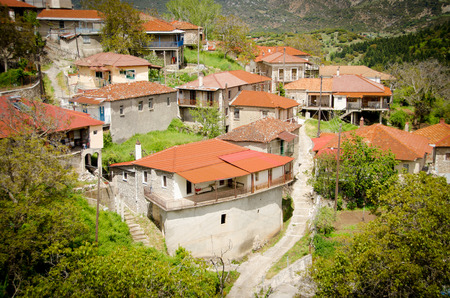 Baltessiniko village. Arcadia, Peloponnese, Greece