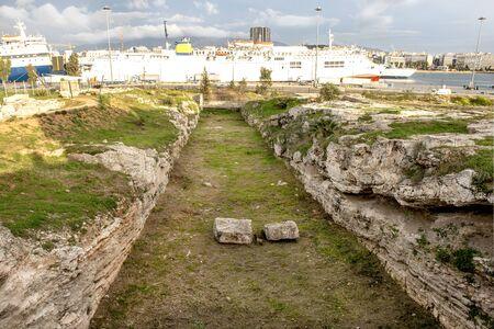 The main entance in Hietionia, Piraeus port Athens, Greece.