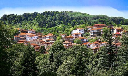 Anilion village in Pindos mountain.Metsovo village, Greece. Zdjęcie Seryjne