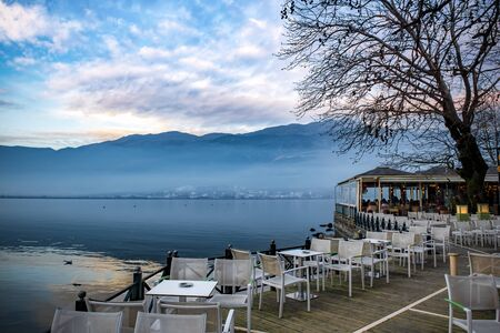 Ioannina city and lake Pamvotis, located in Epirus. Greece