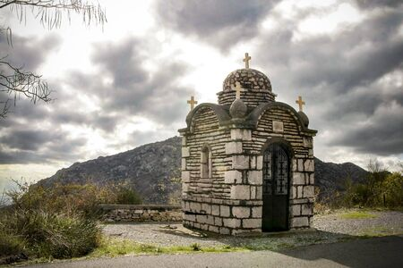 A small stone chapel by the road to Dimitsana village. Greece