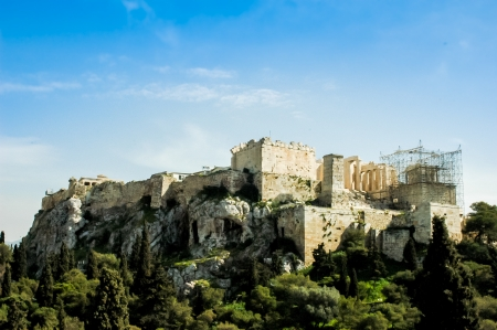 NW view of Acropolis, Athens, Greece photo