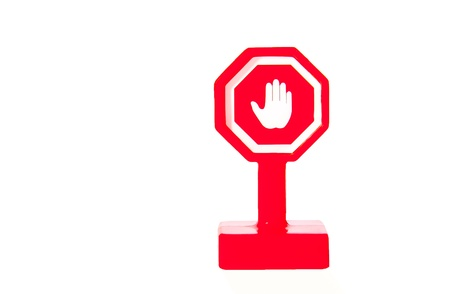 Plastic Stop sign Stock Photo - 14626631