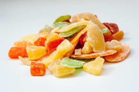 Dried fruits candies photo