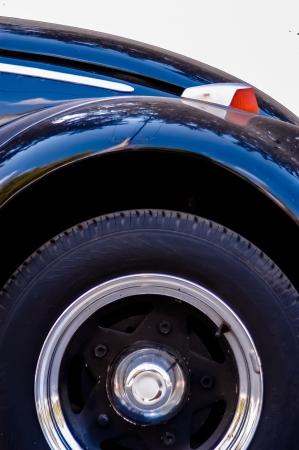 Old black car detail