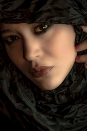 Portrait of a beautiful multiracial girl
