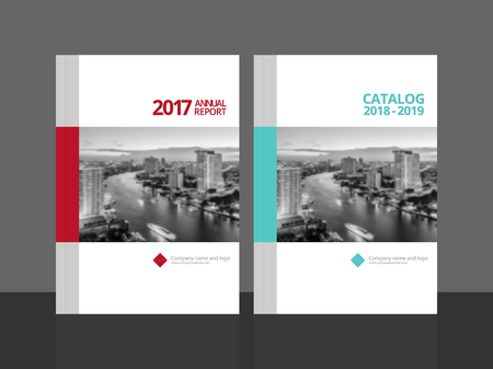 Cover Design For Annual Report And Business Catalog Magazine