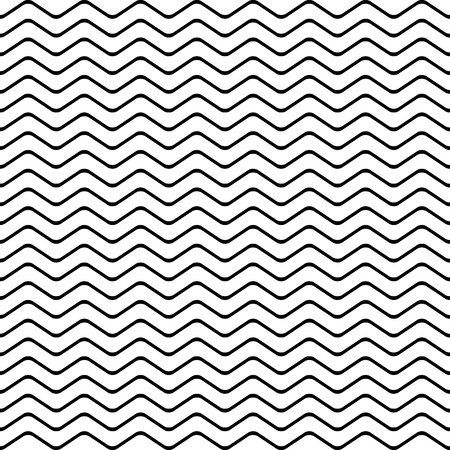 diagonal: Wave pattern seamless black and white colors. Stripe abstract background vector.