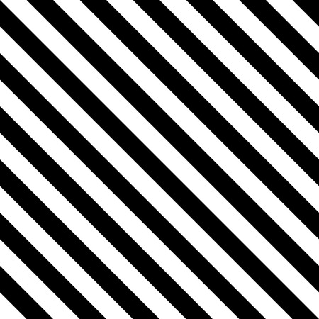 Stripe pattern seamless black and white colors. Diagonal stripe abstract background vector.