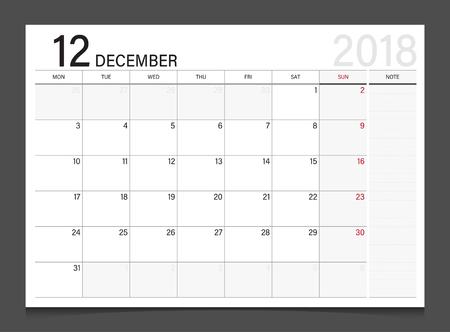 Calendar 2018 Week Start On Sunday. Calendar Planner Corporate ...