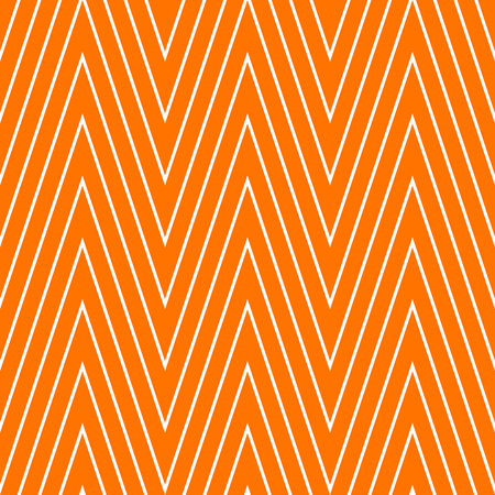 Pattern stripe seamless orange and white colors. Wave stripe abstract background vector.