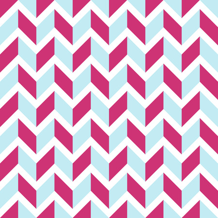 Pattern stripe seamless pink yarrow and blue sea colors with white dashed line .Geometric pattern stripe abstract background vector EPS-10.