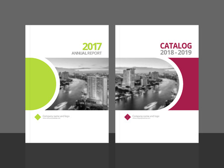 Corporate Cover Design For Annual Report And Business Catalog