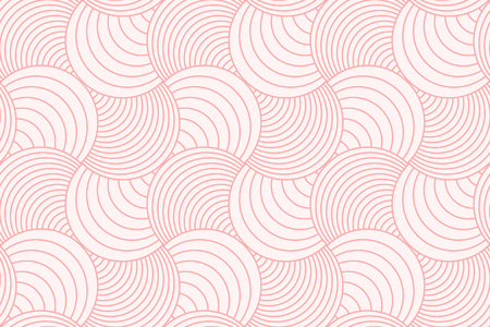 Sweet pink geometric background pattern seamless circle abstract and line vector design. Vettoriali