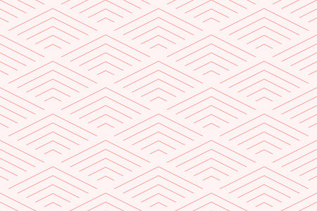 Sweet pink geometric background pattern seamless chevron abstract and line vector design.