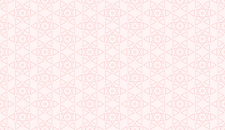 Sweet pink geometric background pattern seamless triangle arabic stlye abstract and line vector design.