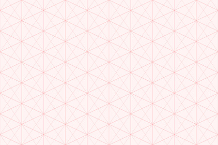 Sweet pink geometric background pattern seamless hexagon abstract and line vector design.