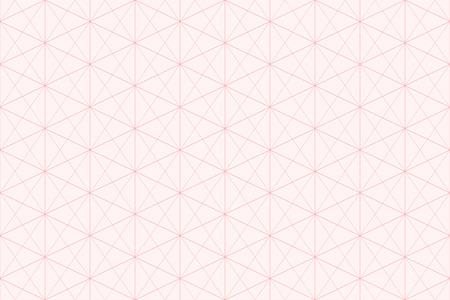 Zoete roze geometrische achtergrondpatroon naadloze zeshoek abstract en lijn vector design.