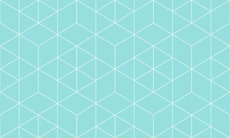 Backgrounds pattern seamless geometric green aqua hexagon abstract and white line vector design. Pastel color background. Vettoriali