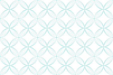 Backgrounds pattern seamless geometric white circle abstract and green aqua line vector design. Pastel color background.