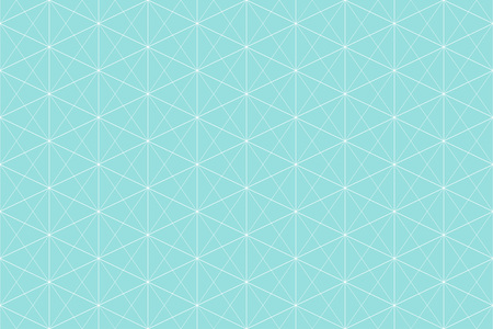 Backgrounds pattern seamless geometric green aqua hexagon abstract and white line vector design. Pastel color background. Illustration