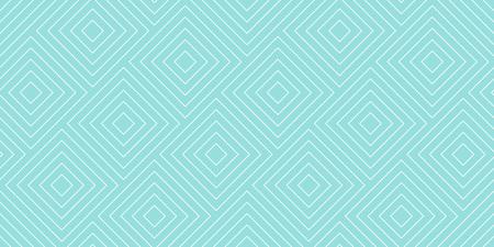 Achtergronden patroon naadloze geometrische groene aqua diagonale vierkante abstracte en witte lijn vector design. Pastel kleur achtergrond