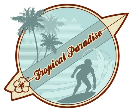 50s: retro surf emblem Illustration