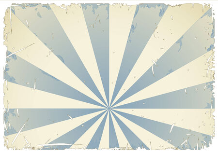 abstract grungy retro background in blue and cream - white grunge/frame can be removed