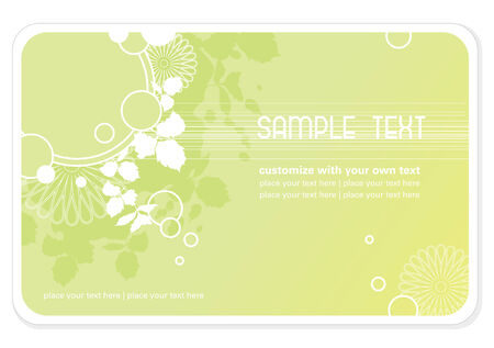 businesscard: floral background or business-card template
