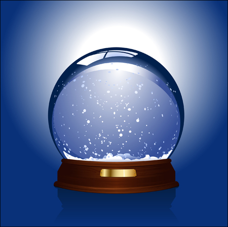 domes: realistic illustration of an empty snow-globe - customize with your own object!