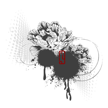 designelement: asian style floral design-element Illustration