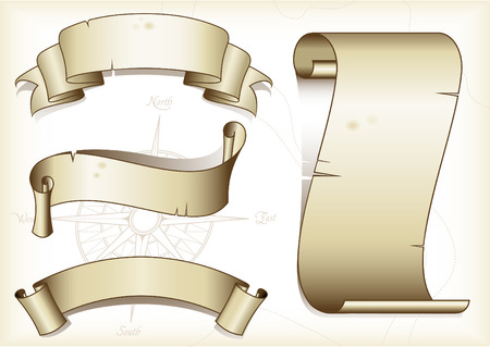 4 つのヴィンテージのバナーの設定