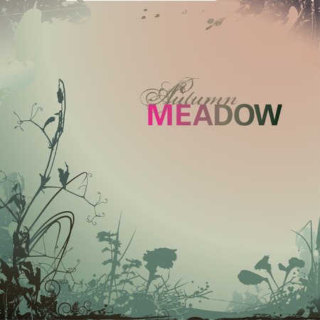 dry grass: autumn meadow background Illustration