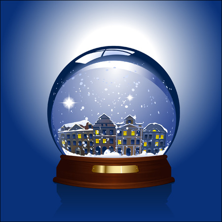 snowglobe with small town inside Stock Vector - 3629465