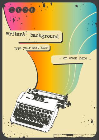 escritores: retro m�quina de escribir de fondo