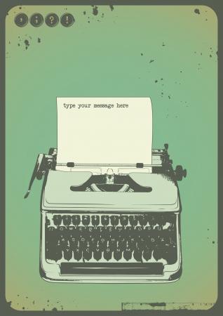 poetic: vintage typewriter background